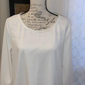 Ann Taylor white blouse worn once!